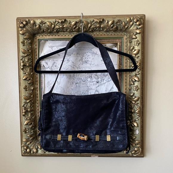 Vintage Matt &Nat Black double zipper shoulder bag